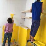 色鮮やかな黄色のペンキ!新会堂DIY記12